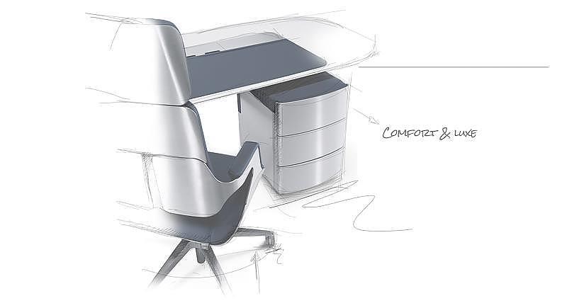Schets Bureaustoelen