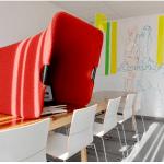 DriVK Deskbooth, verplaatsbare telefoonkap, stiltewerkpek voor op bureau, deskbooth 4