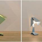 DriVK Lumi, vouwlampje, speels stalen lampje, lampje met industriele look 4