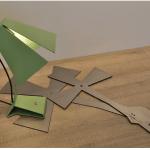 DriVK Lumi, vouwlampje, speels stalen lampje, lampje met industriele look 5